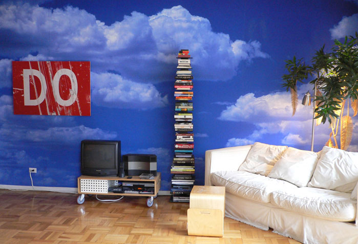 Gallery wall murals blue river digital for Digital wallpaper mural